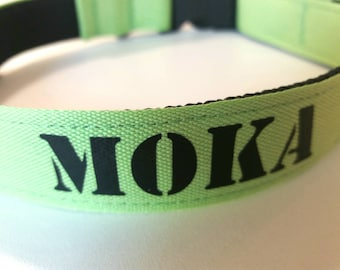 Personalized dog collar / dog's name / phone number on collar / necklace for the holidays / adjustable dog collar