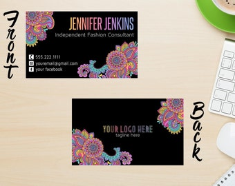 Pop up Boutique Business Card | Fashion Consultant Business Card | Business Card | Two Sided | 3.5x2 **DIGITAL FILE ONLY**