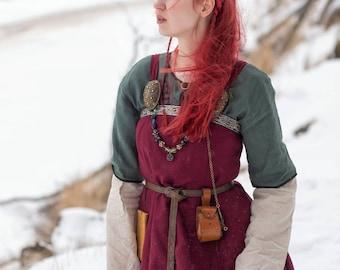 """Viking outfit """"Freya""""; Viking garb; Viking apron; Linen dress; Natural fabric; Northern clothes; Viking clothes"""
