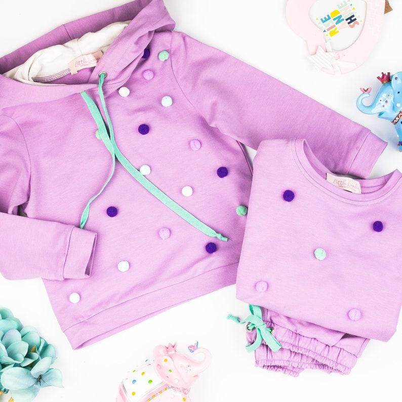 best sneakers 6299a 0a8ef Lilac sweatsuit toddler girl sweatsuit warm purple sweatsuit   Etsy
