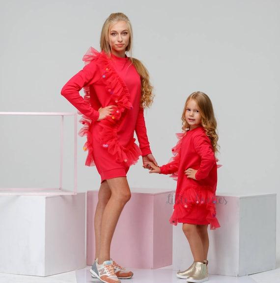 Rouge Tulle Pour Etsy Robe Fille De Bébé qwZnw8Ud
