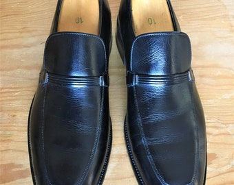 d76876eb7ba Vtg 1980 s Sears men s size 10.5 D easy flex apron leather dress formal  loafers Made in USA