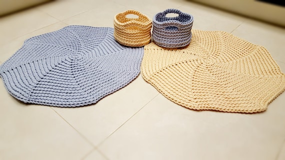 Teppich Häkeln Häkeln Teppich Runder Teppich Spiral Teppich Etsy