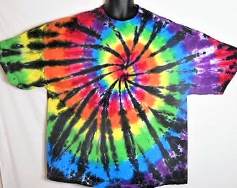 3X Tie Dye, Gift for him or her, LGBT Gay Pride Shirt, Hippie Shirt, Stoner gift, Rainbow Tie Dye, Gift for Hippy, Rainbow and Black,