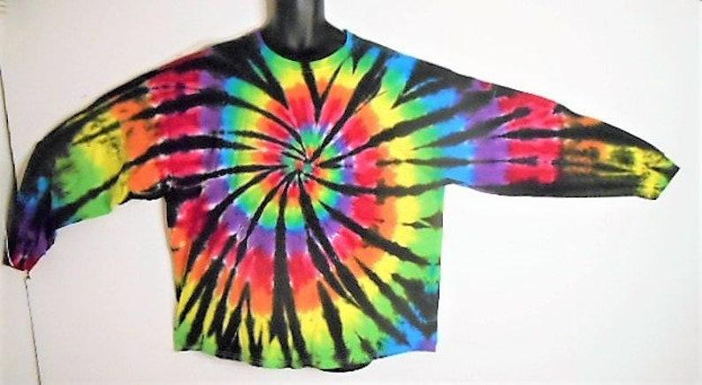 b47214f8c 3XL Long Sleeve Tie Dye Shirt Plus Size Tie Dye Trippy | Etsy