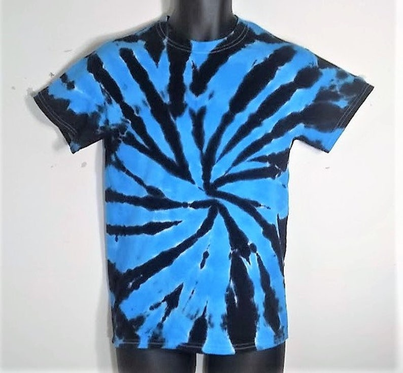 Tie Dye Shirt Blue And Black Small Tie Dye Hippie Shirt Etsy