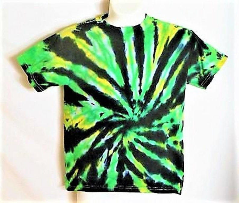 Hippy Kids Clothes Kids Small tie dye green yellow black  965bb47af