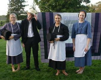 Amish Woman's Costume Basic Outfit Dress Apron cap covering Authentic! Farmer's Wife