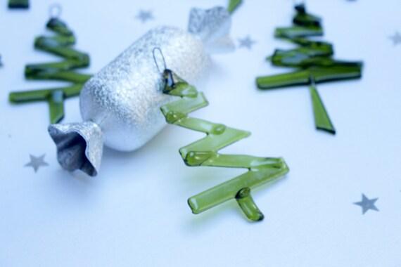 Contemporary Christmas Trees Uk.Fused Glass Christmas Ornament Set Of 3 Contemporary Glass Trees Minimalist Xmas Decoration Recycled Wine Bottle Glass Upcycled Uk