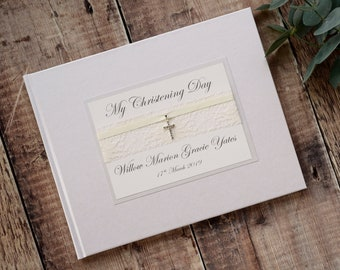 Personalised Guest Book Christening Wedding Baby Shower Birthday Event Occasion Handmade Church Guestbook Memories Diamonds Holy Communion