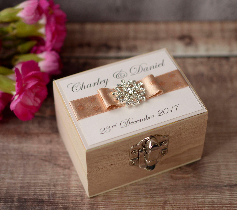 Personalised Wedding Ring Box. Snowflake Wedding Ring Box. | Etsy