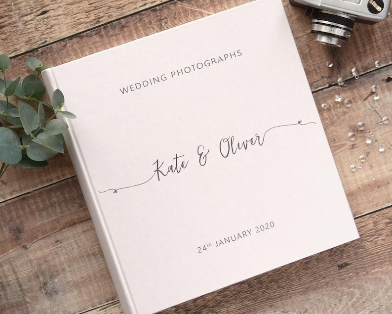 Printed Photograph Album. Large Traditional Book Bound Wedding image 0