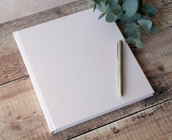 Large Ivory Diy Wedding Guest Book 88 Pages 176 Writing Sides High Quality Plain Blank Diy Guest Book