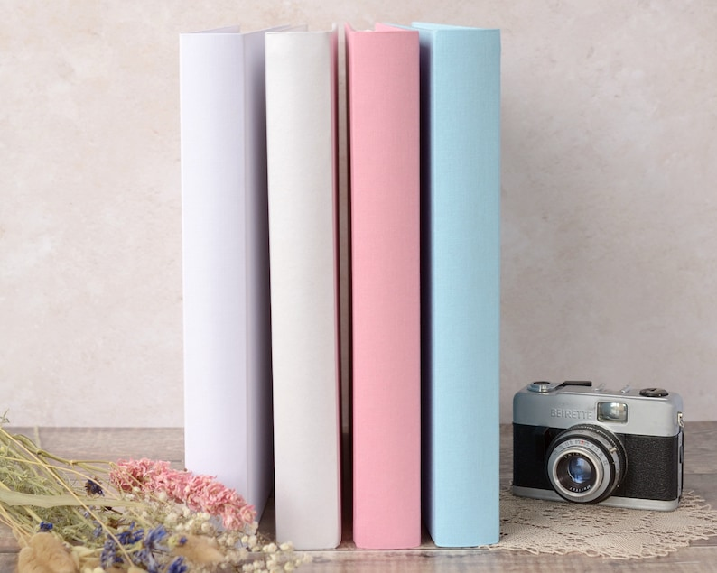 Quality Traditional Book Bound Photograph Album with opaque image 0