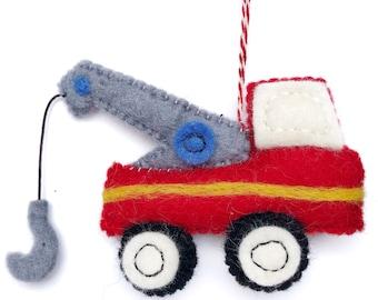Felt Truck Ornament Etsy