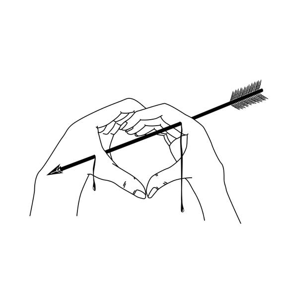 like an arrow through the heart