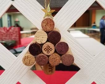Christmas Tree Wine Cork Ornaments