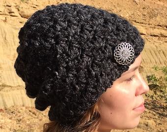 Easy Slouch Hat Crochet Pattern/ Easy Slouchy Hat Pattern/ Crochet Pattern Slouch Hat/ Crochet Easy Slouch Hat/ Pattern Easy Slouchy Hat