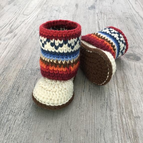 Mini Mukluk Booties Mukluk Baby Boots Crochet Pattern Etsy