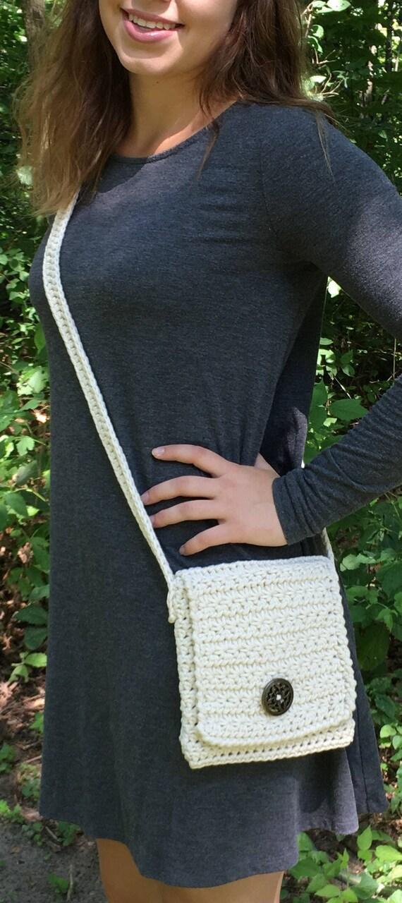 Crochet Pattern Crossbody Purse Easy Cross Body Bag Pattern Etsy