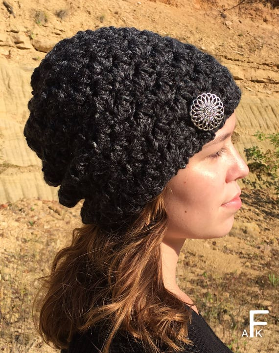 Easy Slouch Hat Crochet Pattern  Easy Slouchy Hat Pattern   685cdcc4159