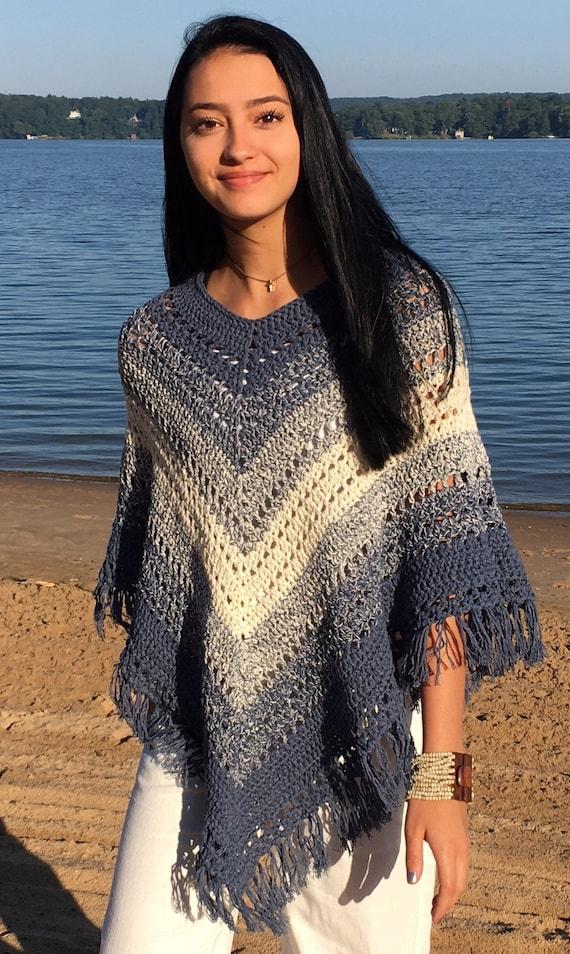 Boho Poncho Crochet Pattern Easy Poncho Pattern Etsy