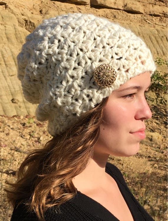 Crochet Easy Slouch Hat  Crochet Pattern Slouch Hat  Easy  725b3a90867