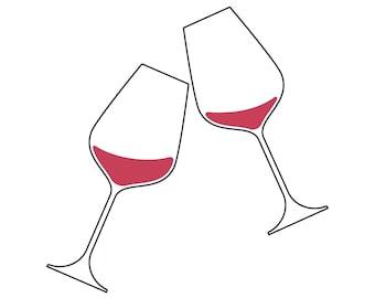 3ef0cbc3ba3c0e Christmas wine glasses svg