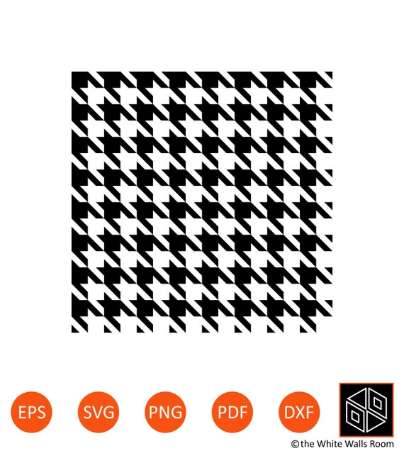 Houndstooth Pattern SVG Seamless Pattern Vector EPS | Etsy