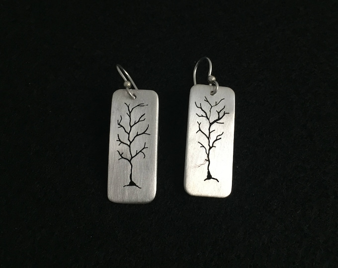 Small rectangle hand pierced trees