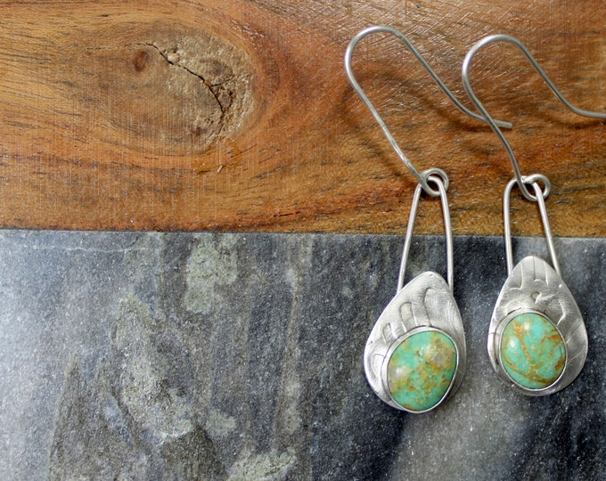 Sterling Silver drop earrings with turquoise