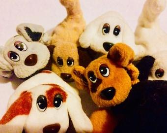 ADOPT YOUR OWN pound puppies miniatures - pound puppy - vintage toys - puppy plush - toy dogs- stocking fillers kids - 1980s toys - plushies