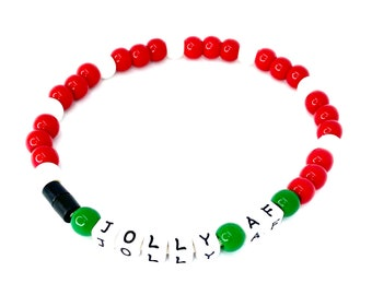 """The """"Jolly AF"""" Hand Beaded Pet Necklace"""
