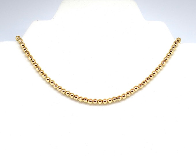 """Featured listing image: The """"Cara"""" 15"""" 18k gold filled 5mm bead choker with 2"""" extender."""