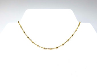 "The ""Lucia"" 14"" 14k gold filled choker"
