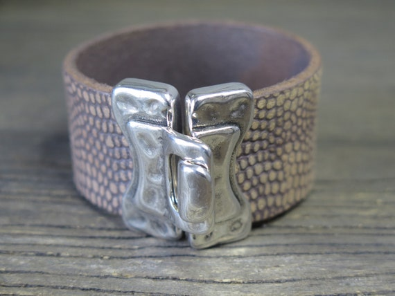 Handmade European Leather Cuff Bracelet