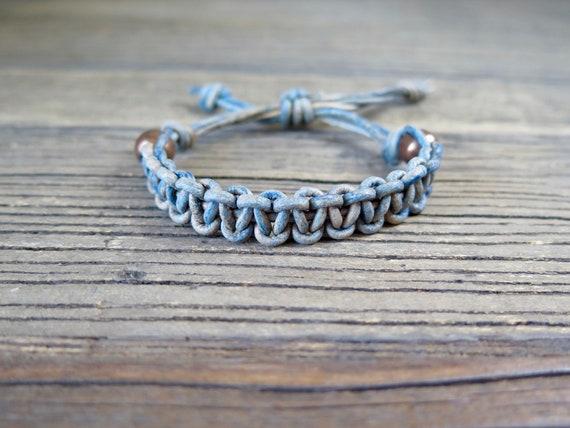 """6 1/2"""" European leather Shambahla bracelet"""