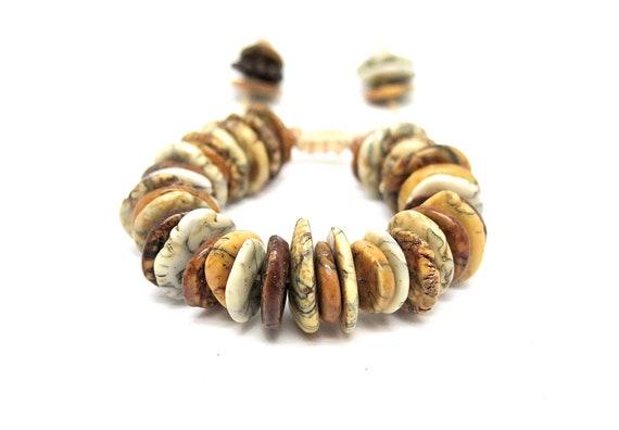 Rare hand beaded Turquoise shambahla bracelet