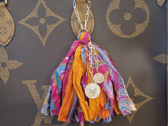 Handmade Sari Silk Tassel on 14k Gold Filled chain