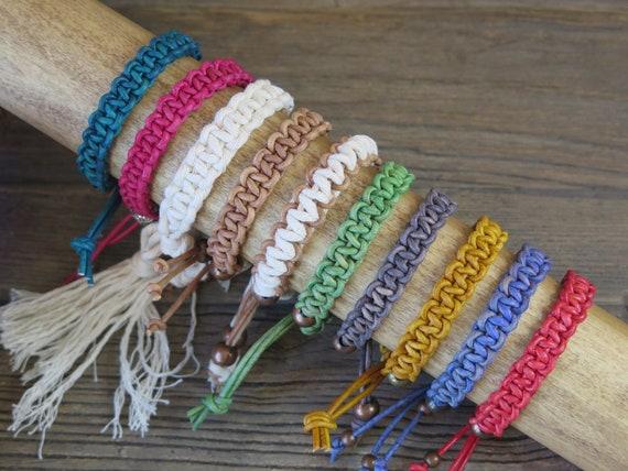 Hand knotted European leather Shambahla bracelets