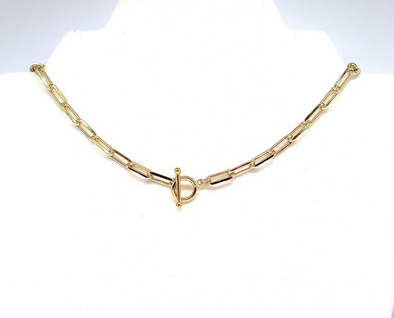"""The """"Olive"""" 16"""" 18k gold filled 5.5mm X15mm large link cable chain"""