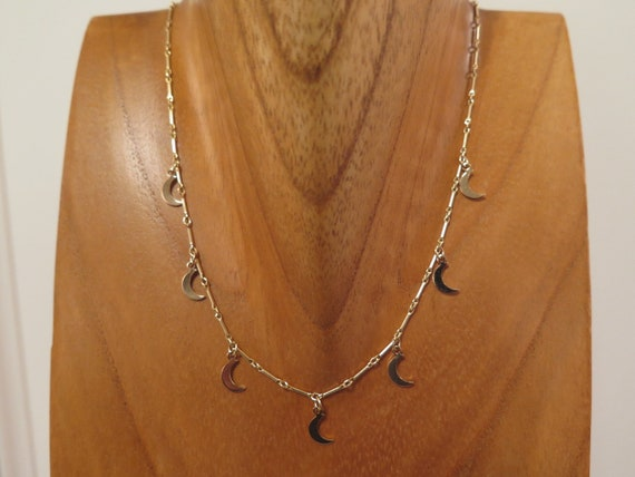 "16"" 14k Gold filled Moon Necklace"