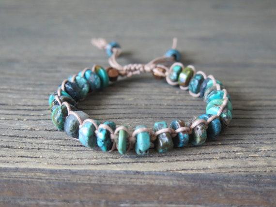 Hand Knotted Turquoise Shambhala Bracelet