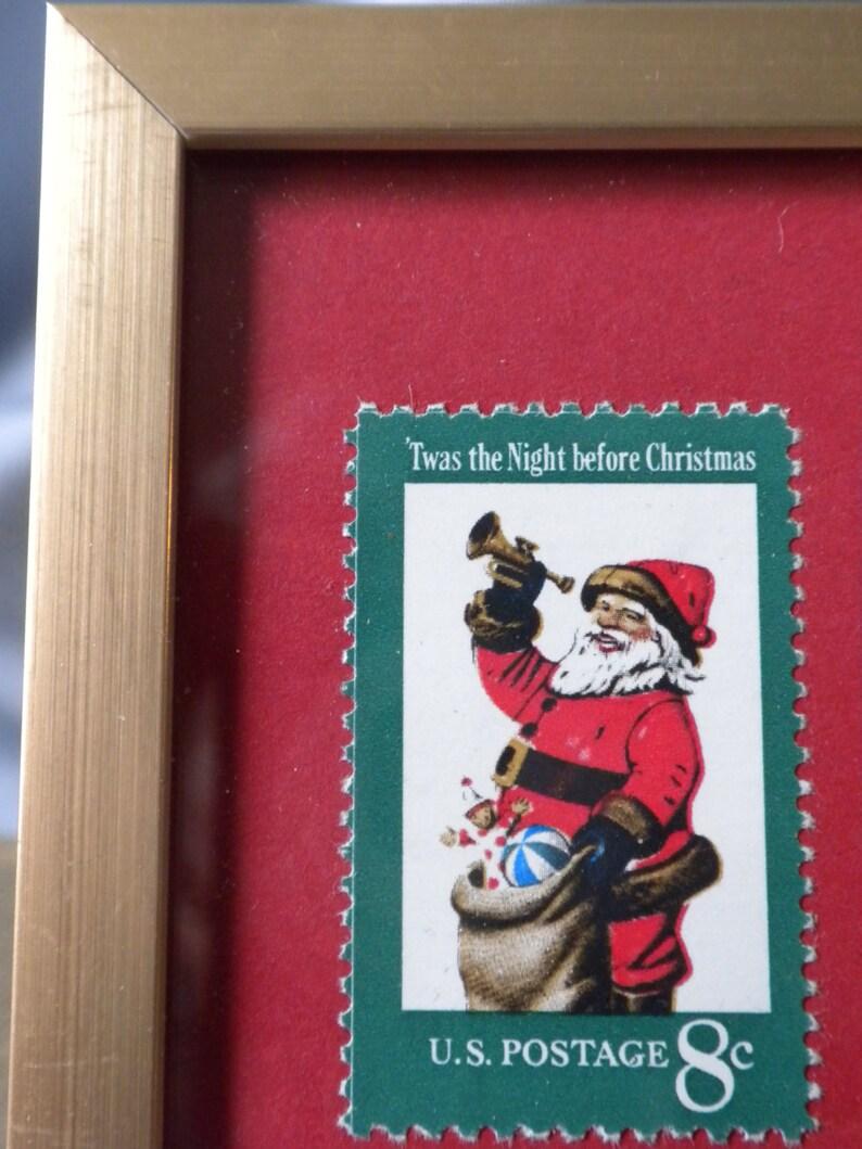 framed Santa Claus Stamp