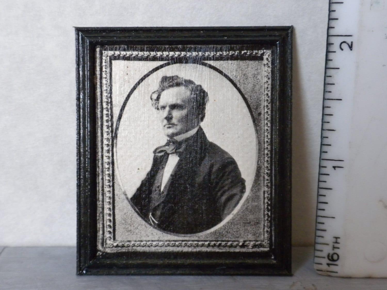 Miniatur-Bild Foto Mann schwarz und weiß in Holzrahmen für