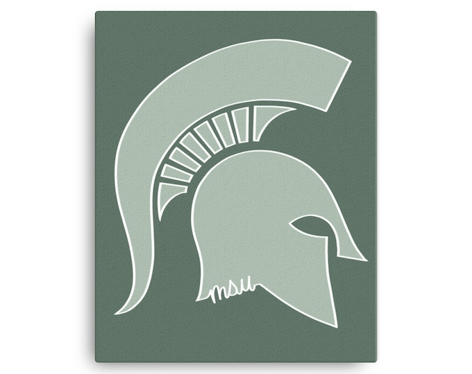 Michigan State Spartan Canvas Print