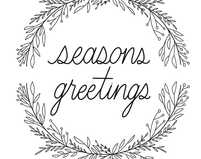 Seasons Greetings PDF Print