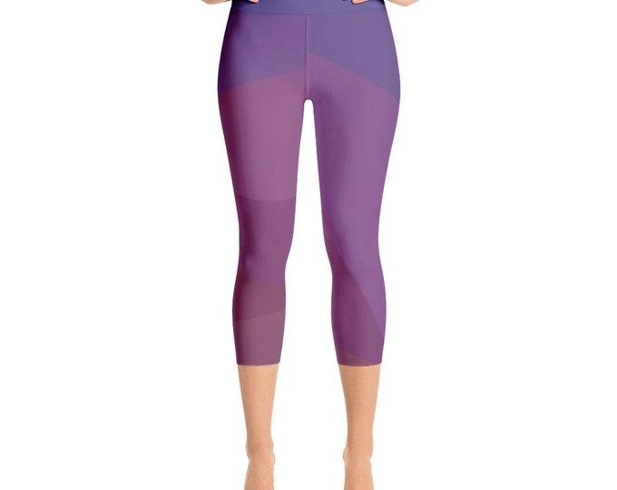 Abstract Yoga Capri Leggings