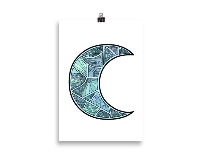 Abstract Moon Poster