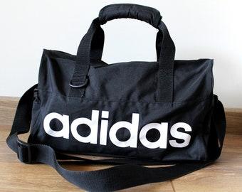 c90cb22dc6c 90 s ADIDAS Bag, Vintage Adidas Gym Bag, Small Adidas Sports Bag, Adidas  Duffle Bag, Black White Adidas Bag, Adidas Luggage Bag, Spell Out